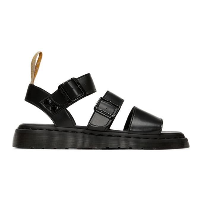 Photo: Dr. Martens Black Vegan Gryphon Sandals
