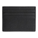 Giorgio Armani Black Tumbled Leather Card Holder