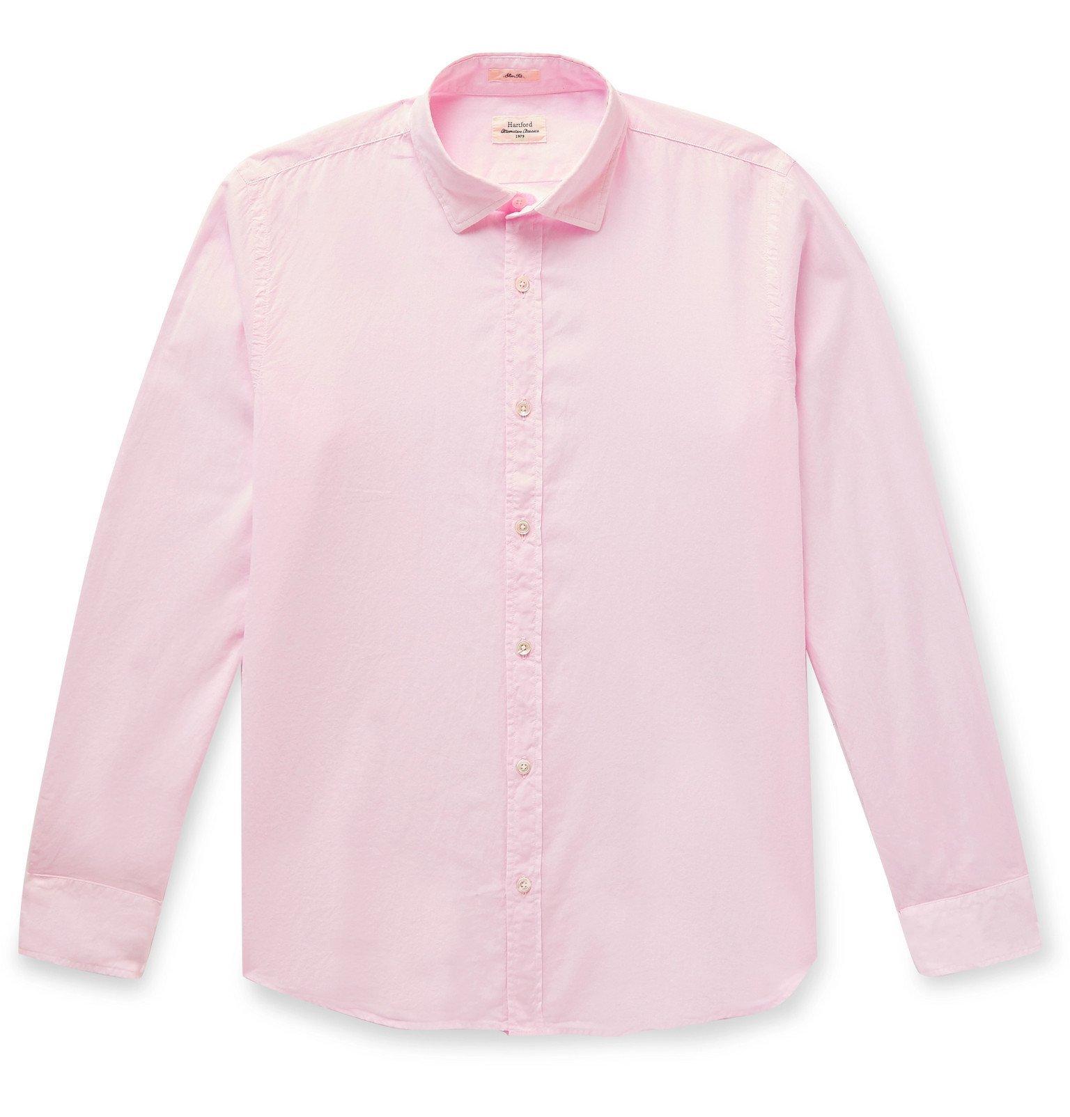 Photo: Hartford - Slim-Fit Cotton Shirt - Pink