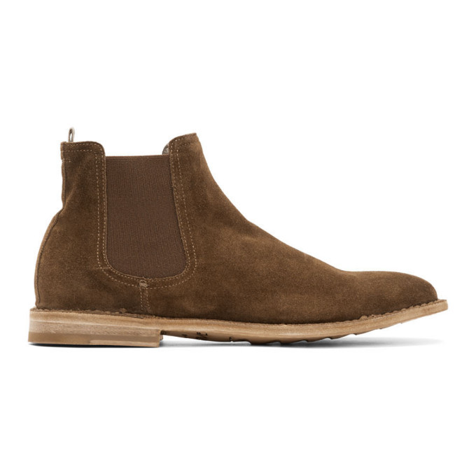 Photo: Officine Creative Tan Steple 5 Chelsea Boots