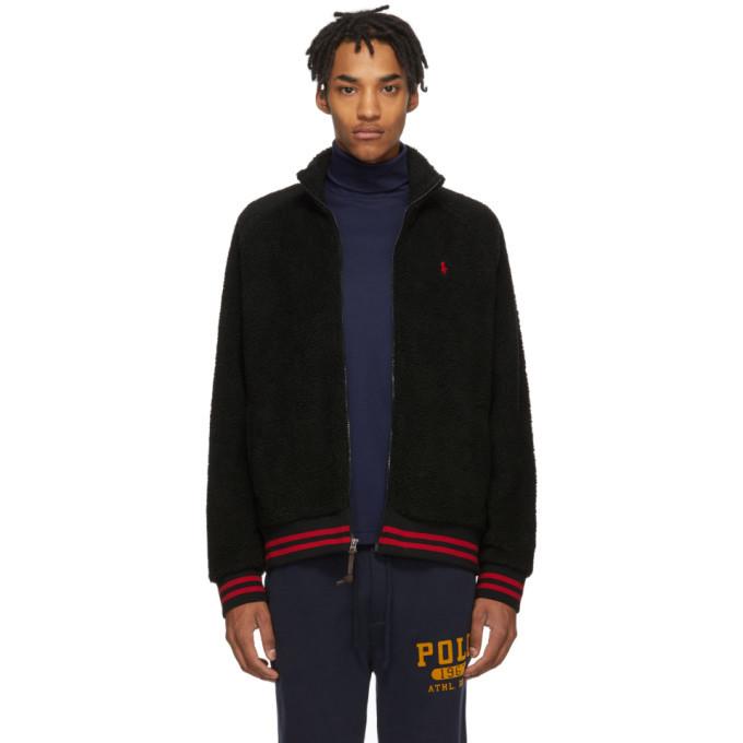 Photo: Polo Ralph Lauren Black Sherpa Vintage Zip-Up Jacket