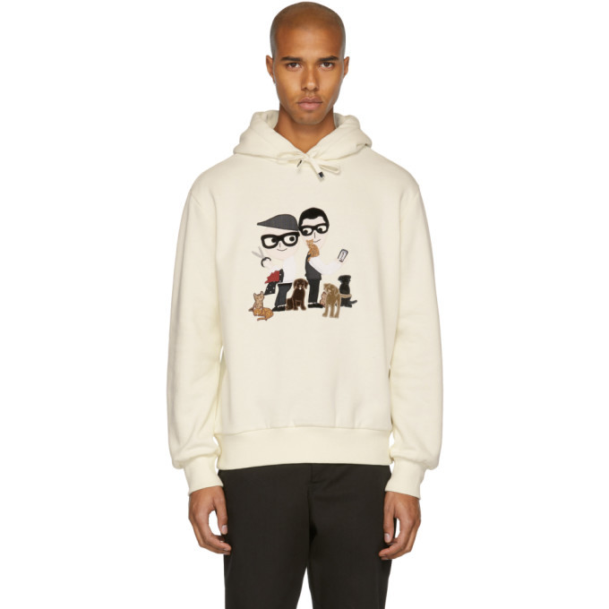 Photo: Dolce and Gabbana Off-White Designer Family Hoodie