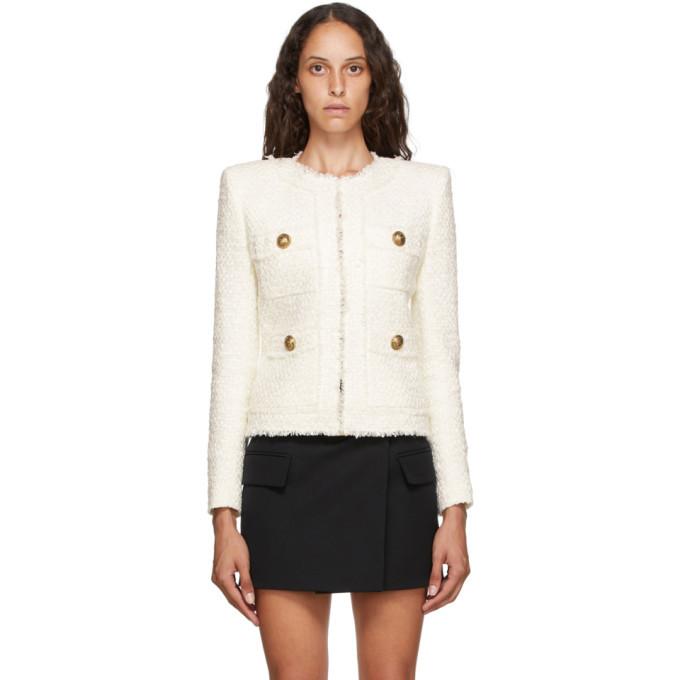 Photo: Balmain White Tweed Jacket