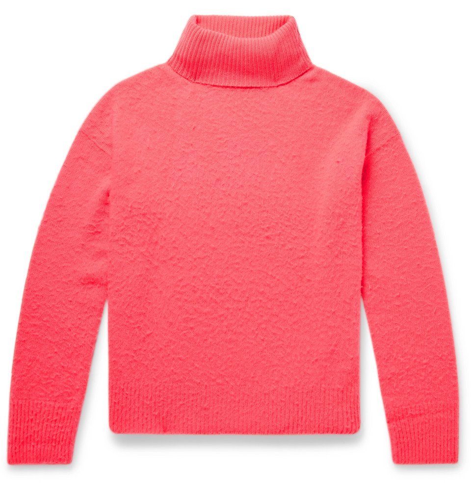 Photo: Acne Studios - Nyran Brushed Wool and Cashmere-Blend Rollneck Sweater - Pink