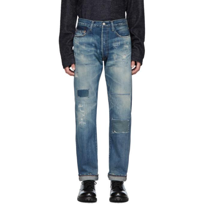 Photo: Junya Watanabe Blue Levis Edition 501 1947 Customized Jeans