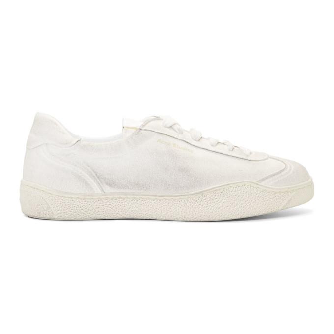 Photo: Acne Studios White Lars Tumbled Sneakers