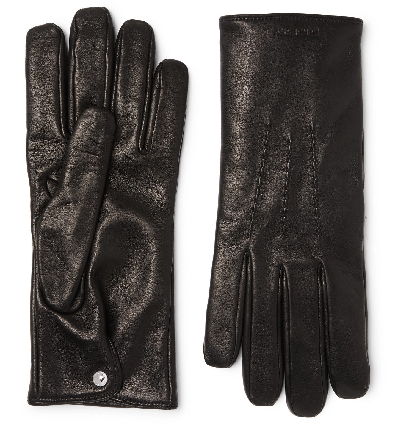 Photo: Burberry - Cashmere-Lined Leather Gloves - Black