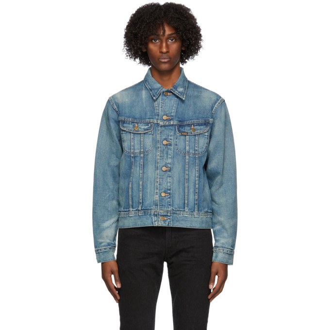 Photo: RRL Blue Denim Leeland Distressed Jacket