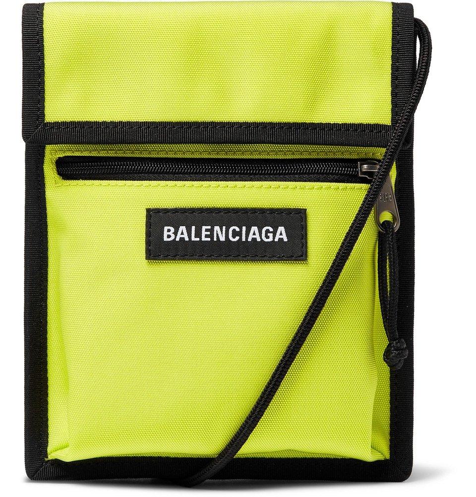 Photo: Balenciaga - Explorer Canvas Messenger Bag - Yellow