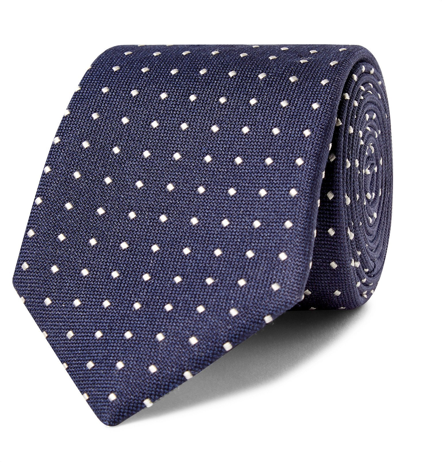 Photo: Canali - 8cm Embroidered Silk-Jacquard Tie - Blue