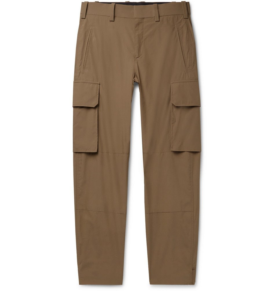 Photo: Neil Barrett - Tapered Cotton-Blend Cargo Trousers - Brown