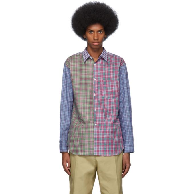 Photo: Comme des Garcons Shirt Multicolor Cotton Poplin Check Shirt