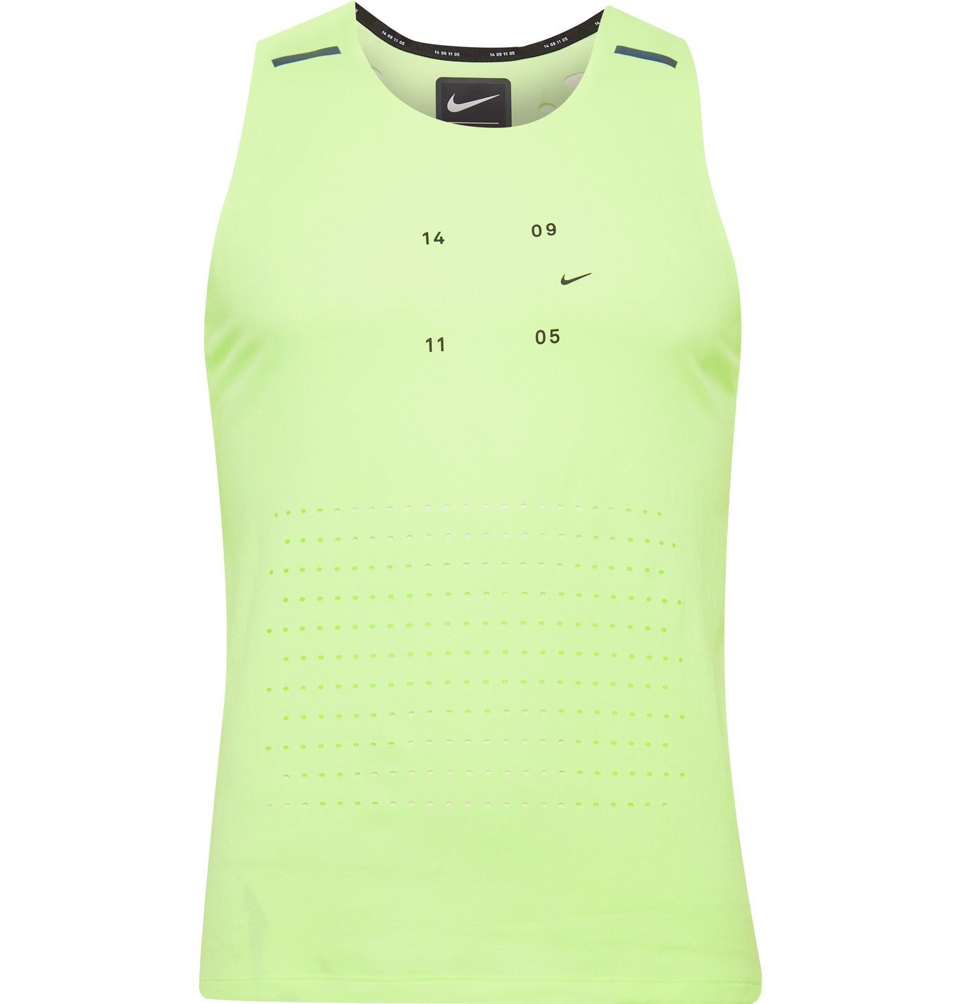 Photo: Nike Running - Tech Pack Logo-Print Perforated Stretch-Jersey Tank Top - Green