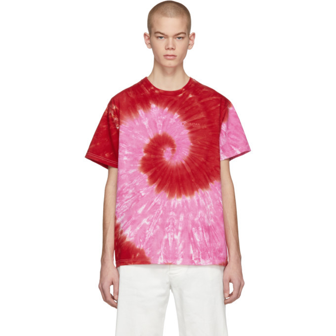 Photo: Kwaidan Editions SSENSE Exclusive Pink and Red Tie-Dye T-Shirt