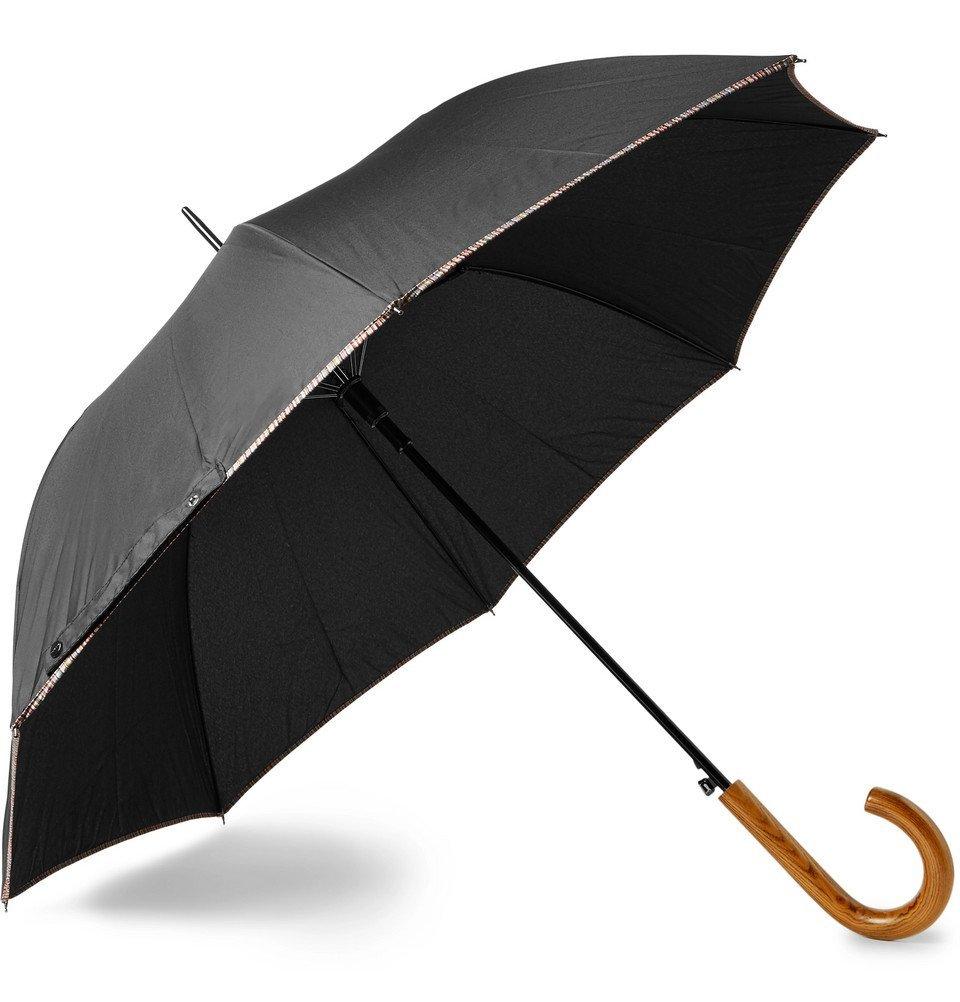 Photo: Paul Smith - Walker Wood-Handle Umbrella - Black