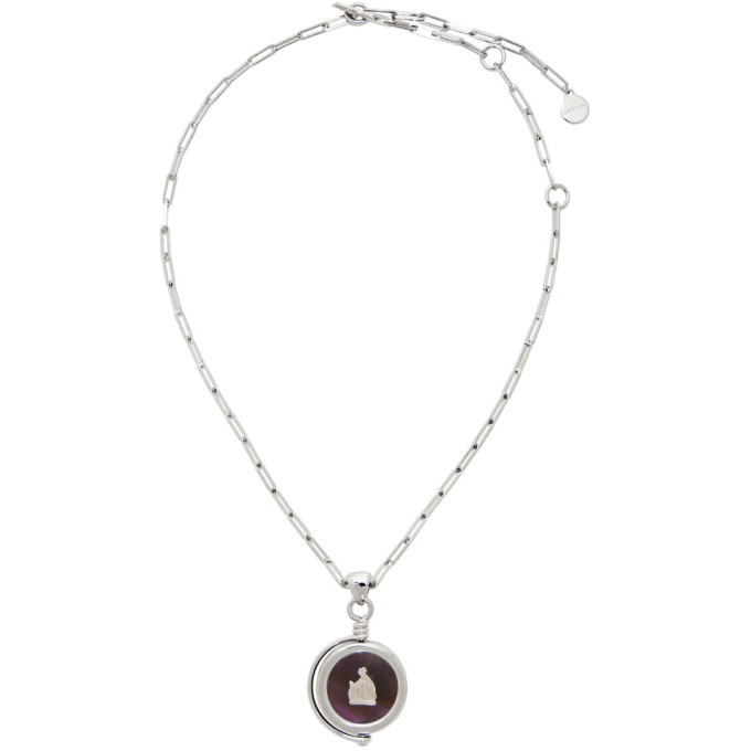 Photo: Lanvin Silver and Purple Amethyste Stone Pendant Necklace