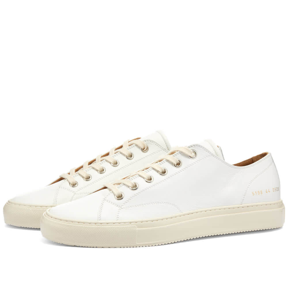 Common Projects Tournament Low Leather Shiny