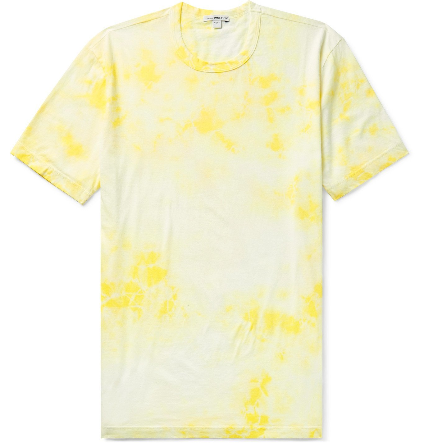 Photo: James Perse - Tie-Dyed Combed Cotton-Jersey T-Shirt - Yellow