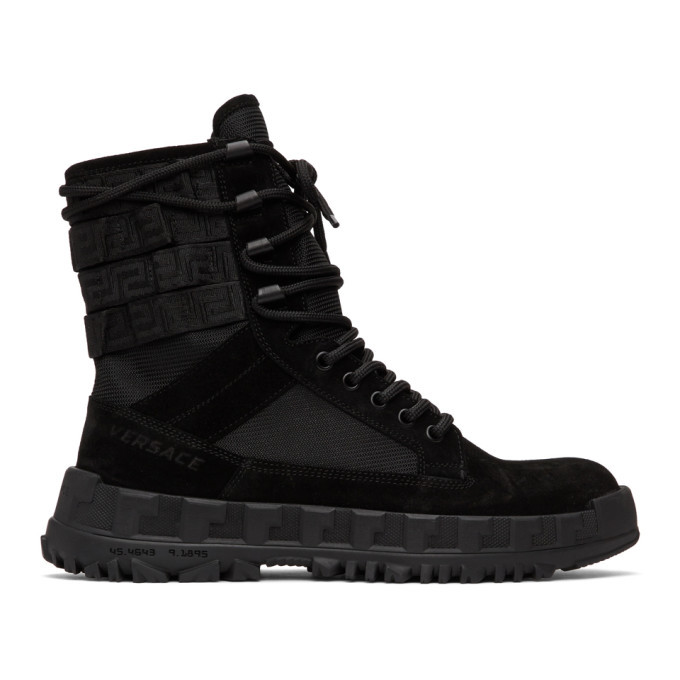 Photo: Versace Black High Sneaker Boots