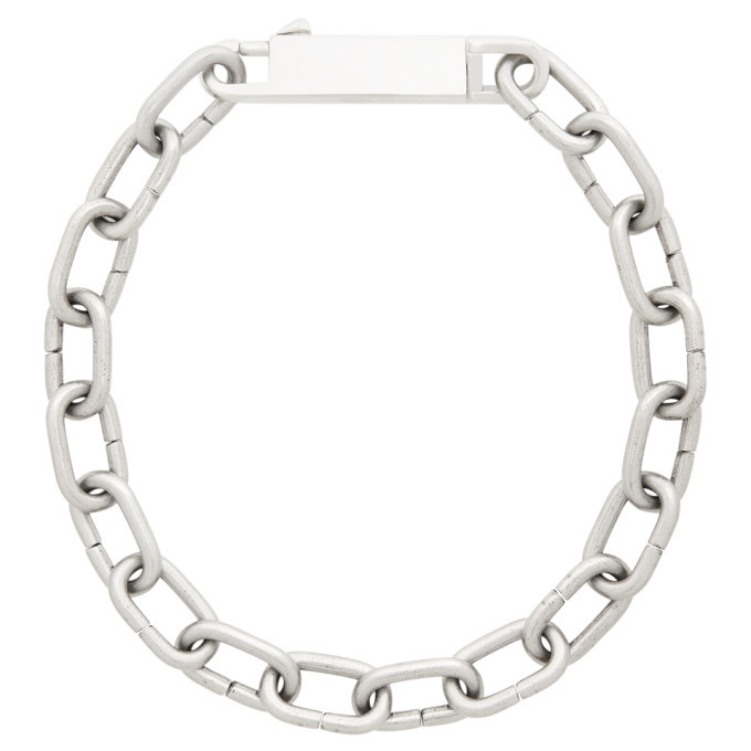 Photo: Rick Owens Silver Easy Choker Necklace