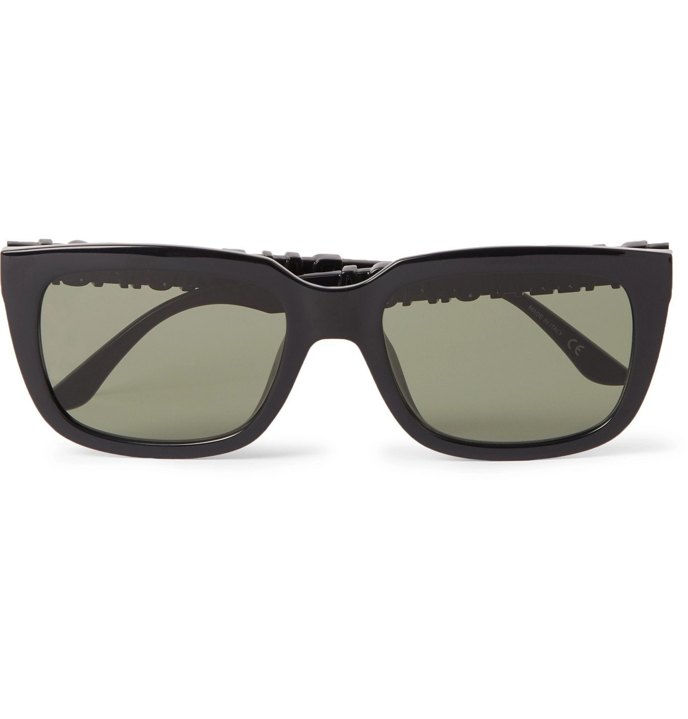 Photo: Balenciaga - Square-Frame Logo-Detailed Acetate Sunglasses - Black