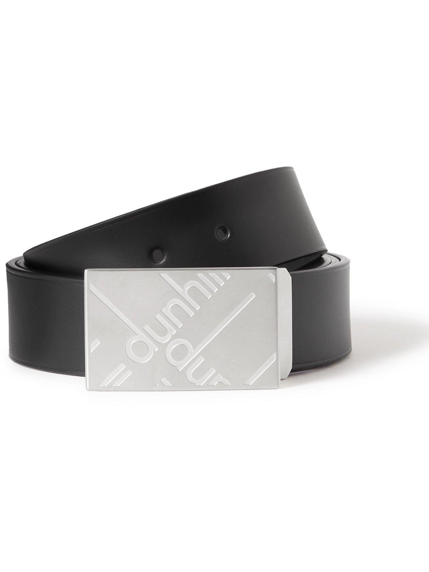 DUNHILL - 3.5cm Leather Belt - Black