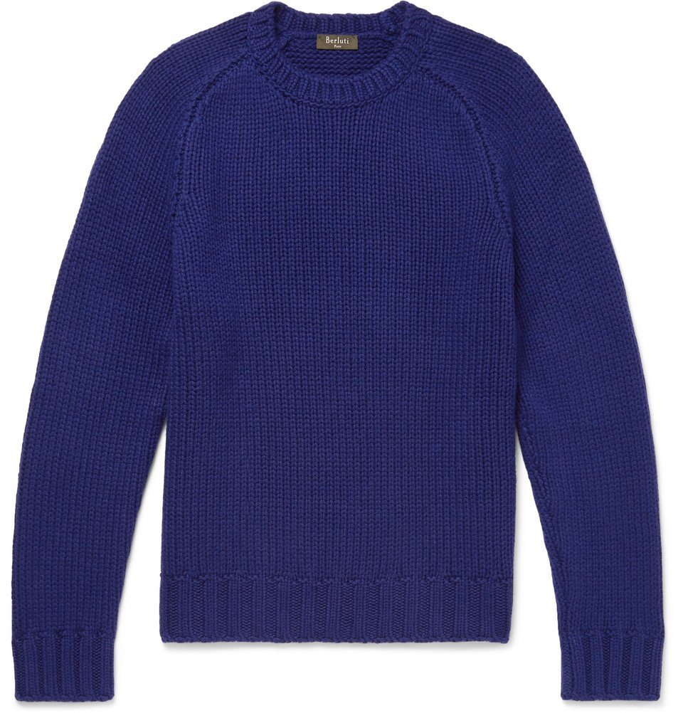 Photo: Berluti - Ribbed Cashmere Sweater - Men - Purple