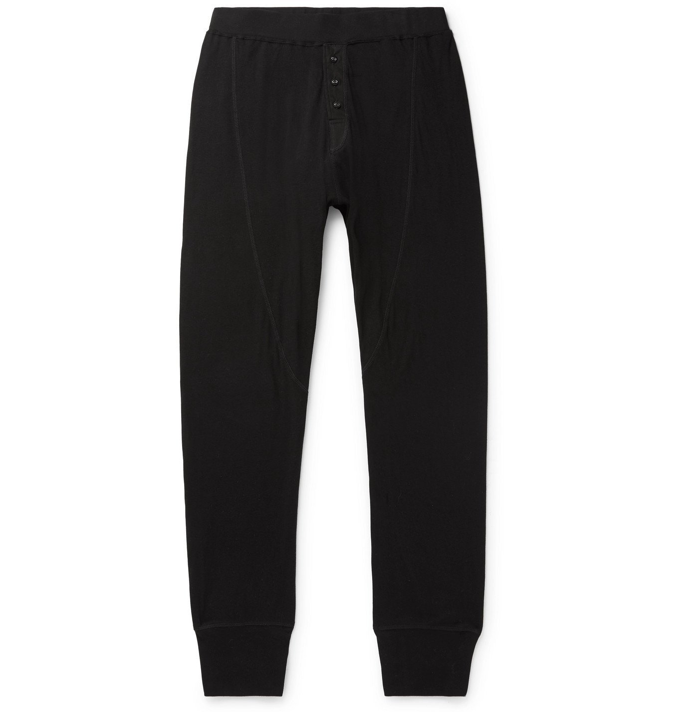 Photo: RAG & BONE - Gibson Slim-Fit Tapered Cotton-Jersey Sweatpants - Black
