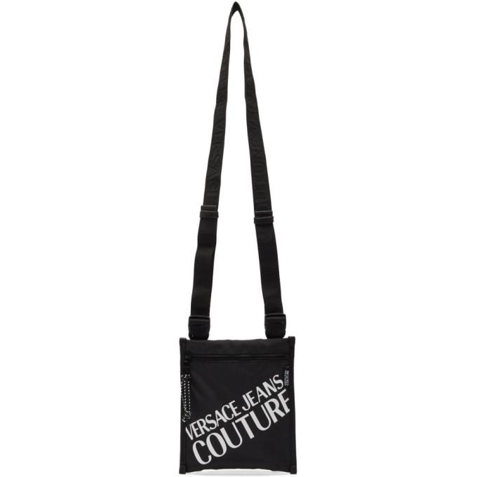 Versace Jeans Couture Black Logo Crossbody Bag