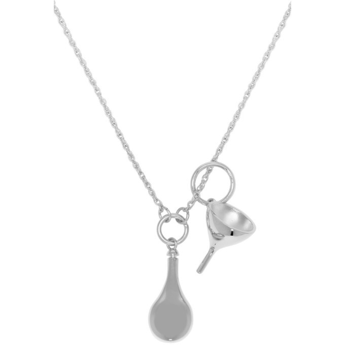 Lemaire Silver Small Perfume Bottle Necklace