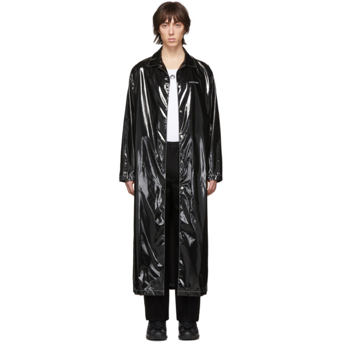 Photo: Marine Serre Black Patent Raincoat