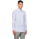 Dunhill Blue Formal Striped Shirt