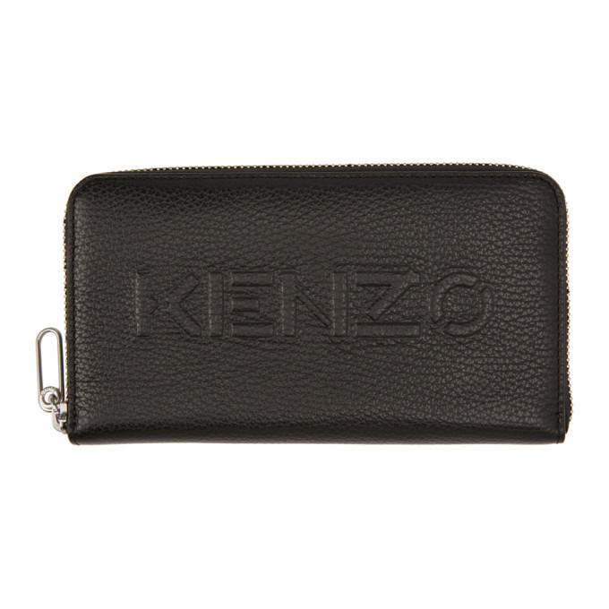 Photo: Kenzo Black Zip Long Imprint Continental Wallet