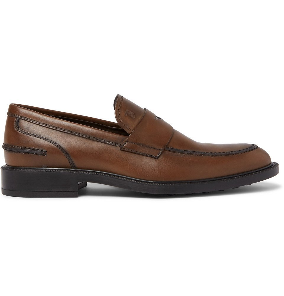 Tod's - Leather Penny Loafers - Men - Brown