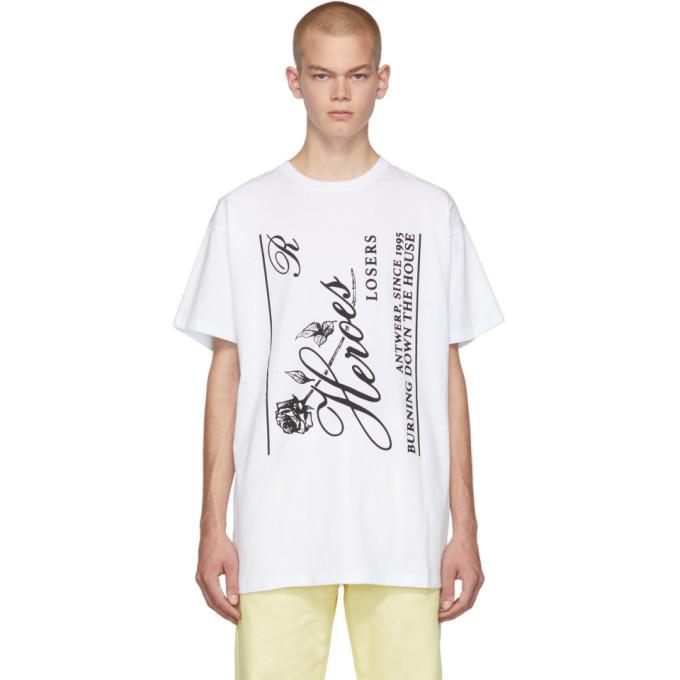 Raf Simons White Heroes Big Fit T-Shirt