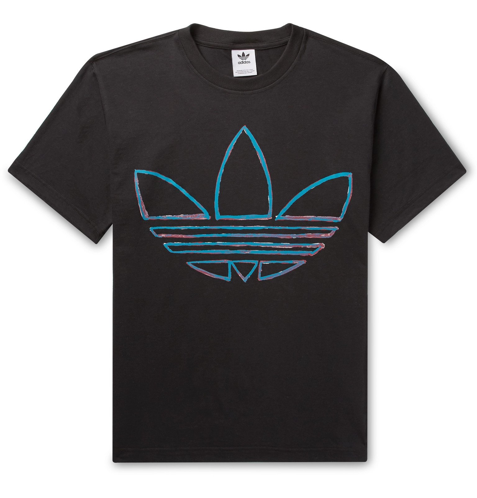 adidas Originals - Logo-Print Cotton-Jersey T-Shirt - Black