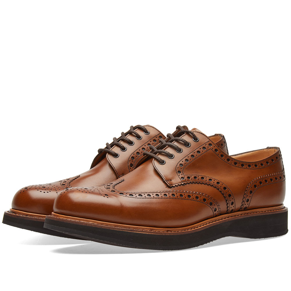 Photo: Church's Tewin Lightweight Sole Brogue Brown