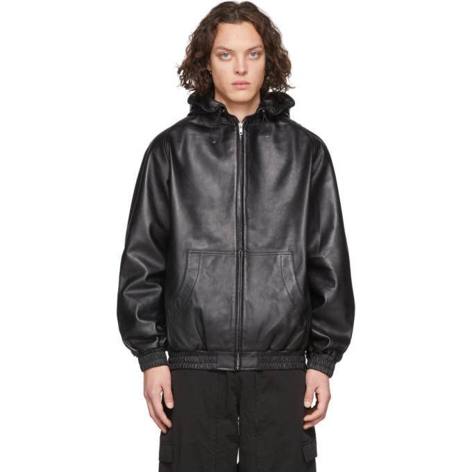 Photo: Random Identities Black Leather Jacket