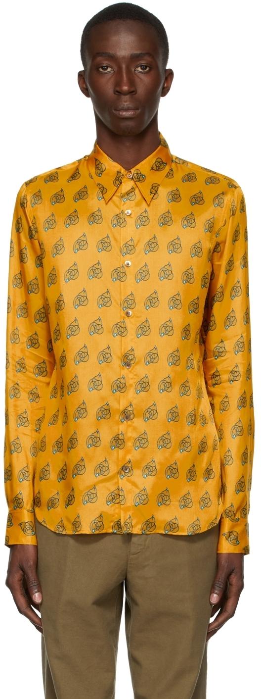 Photo: Dries Van Noten Yellow Viscose Printed Shirt