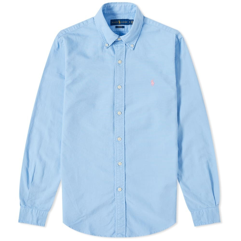 Photo: Polo Ralph Lauren Slim Fit Button Down Garment Dyed Oxford Shirt