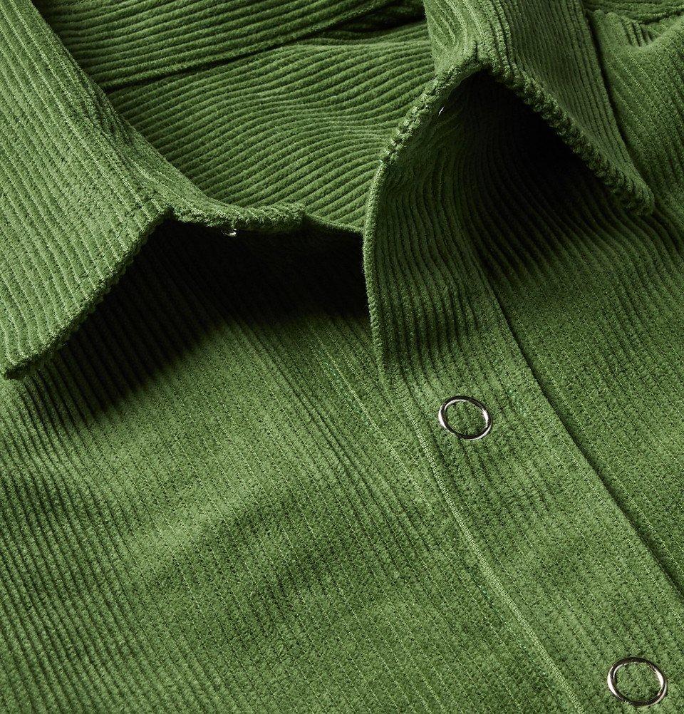 The Elder Statesman - Cotton-Corduroy Shirt Jacket - Green
