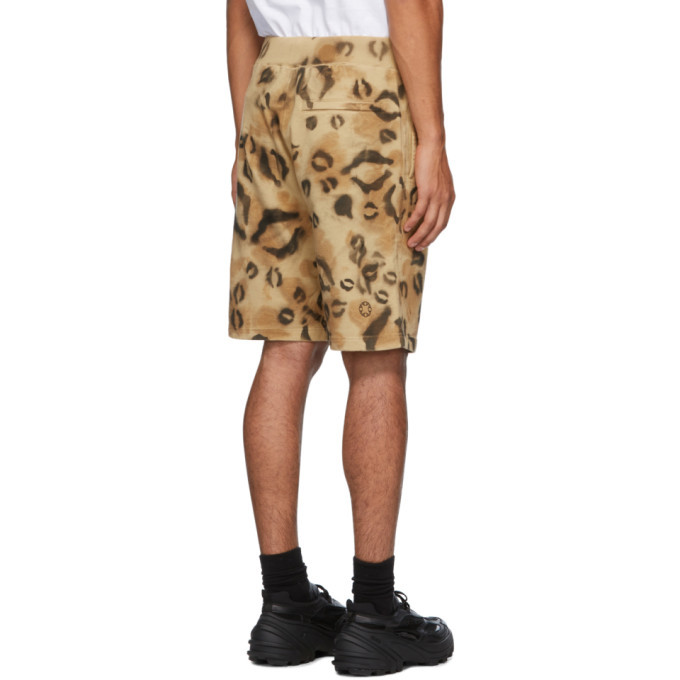 1017 ALYX 9SM Tan and Black Terry Leopard Shorts