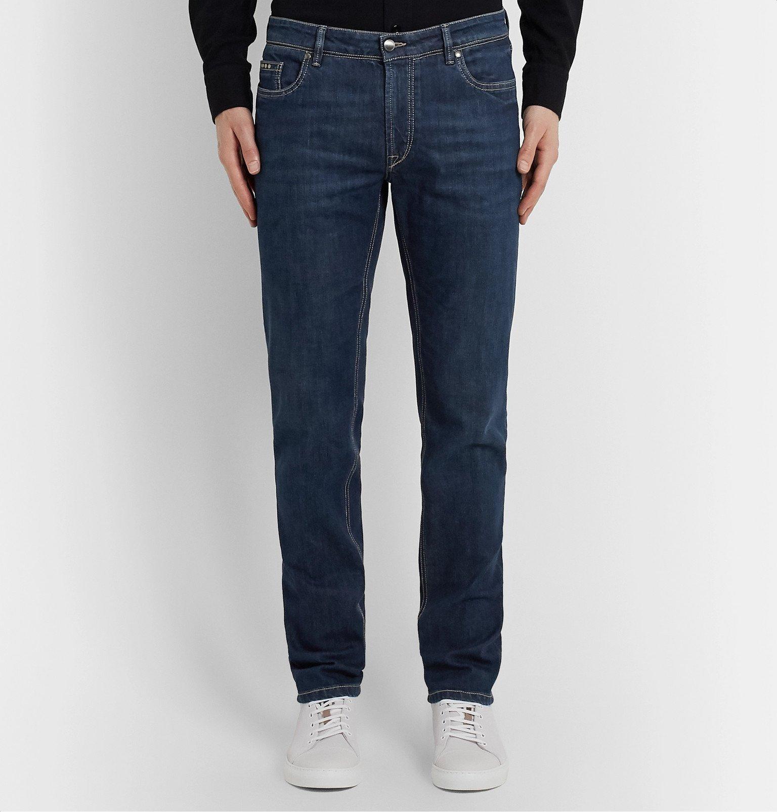 Tod's - Slim-Fit Stretch-Denim Jeans - Blue
