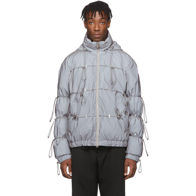 Photo: Post Archive Faction PAF Silver Down Reflective String Jacket