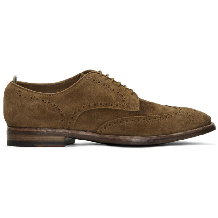 Photo: Officine Creative Brown Suede Princeton Brogues