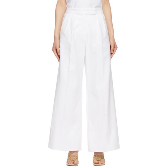 Max Mara White Malizia Trousers