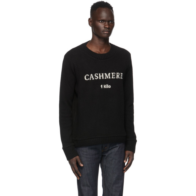The Elder Statesman SSENSE Exclusive Black Cashmere Crewneck
