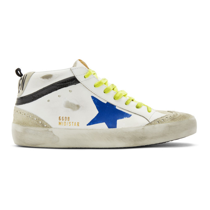 Photo: Golden Goose White Wingtip Mid Star Sneakers