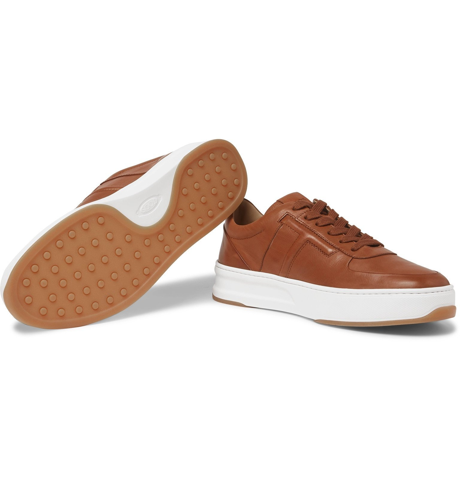 Tod's - Cassetta Leather Sneakers - Brown