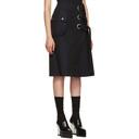 Sacai Black Cotton Twill Skirt